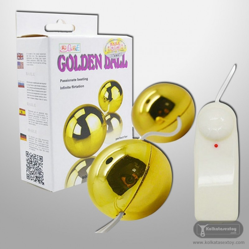 Multi Speed Golden Ben Wa Vibrating Balls Anal Vaginal BV-013